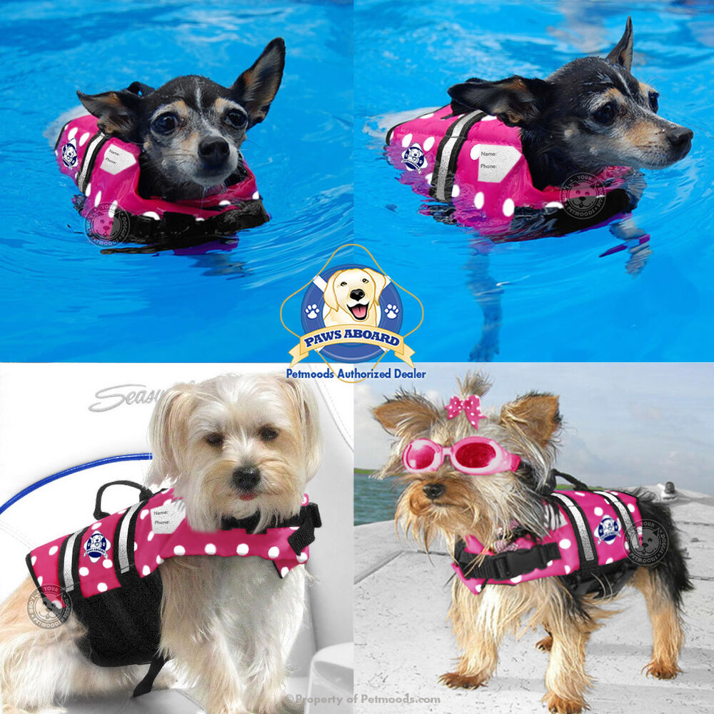 PAWS ABOARD Dog Life Jacket Vest PINK POLKA DOTS X-Small 6 ...