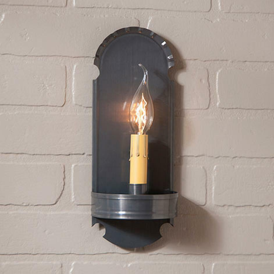 Wall Light Electric Kit : COUNTRY tin handcrafted electric wall sconce light /nice eBay