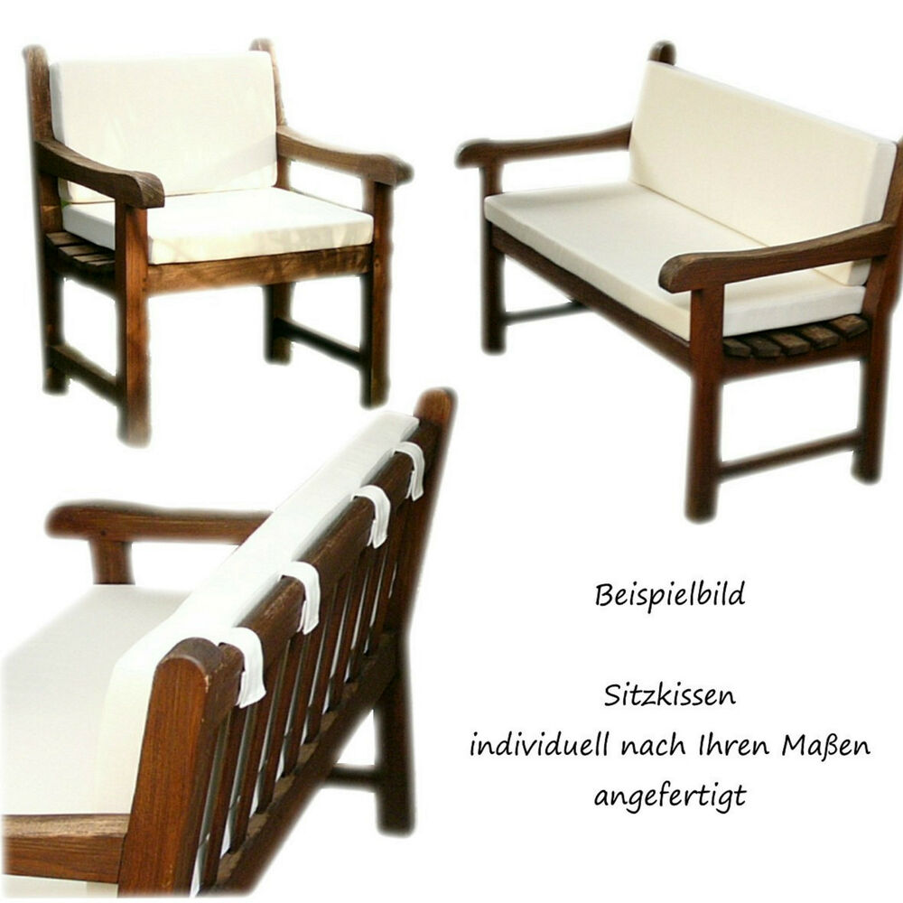 sitzkissen auflagen polster nach ma microvelour mit teflonbesch ebay. Black Bedroom Furniture Sets. Home Design Ideas