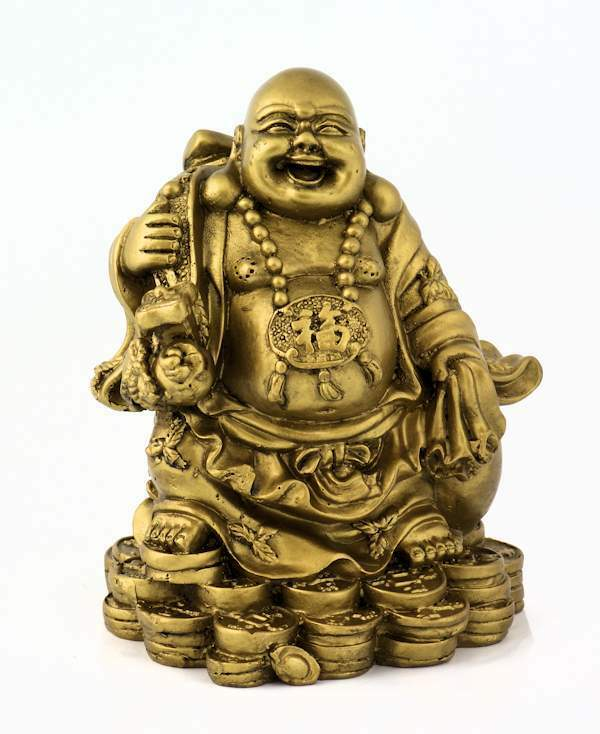 Buddhistischer M Nch Buddha Figur Statue Messing Optik