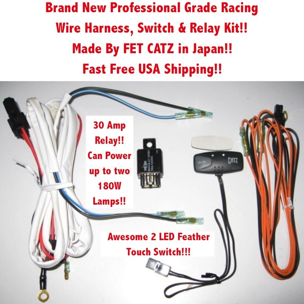 Wire Harness Switch Relay Kit 4 Catz Hella Piaa Bosch Kc Fog Racing Wiring Lights Ft Jdm Ebay