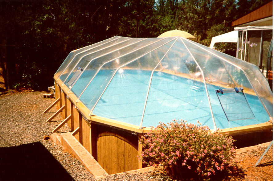 Oval Above Ground Swimming Pool Solar Sun Dome Pool Cover Heater Panel Sundome Ebay