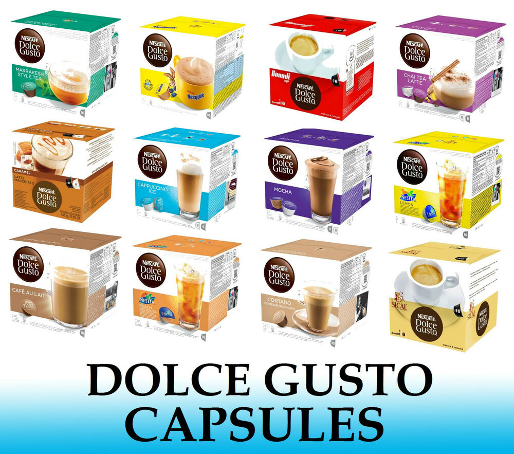 nescafe dolce gusto capsules many flavours to choose from sold loose ebay. Black Bedroom Furniture Sets. Home Design Ideas