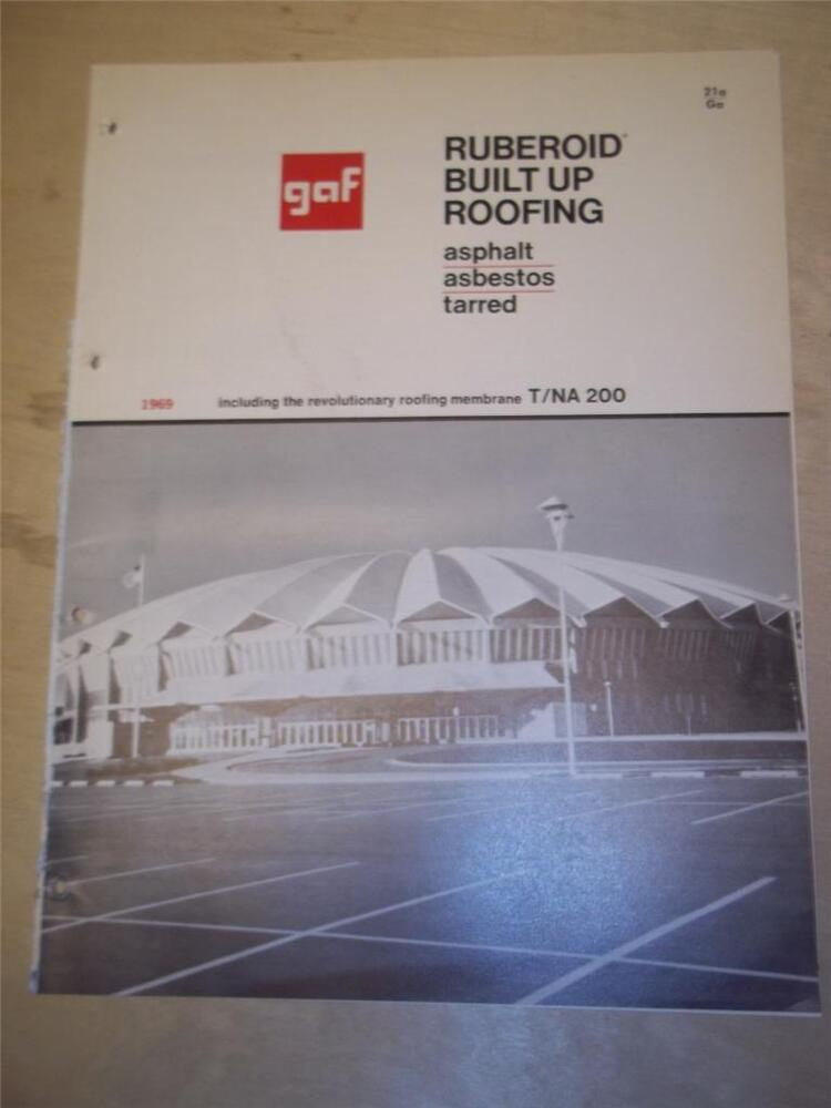 Gaf corp catalog asbestos ruberoid built up roofing for Philip carey asbestos