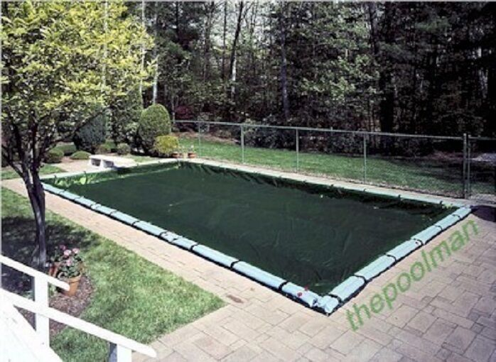 16 39 X36 39 Winter Swimming Pool Cover And 11 Water Tube Kit For Inground Pools Ebay