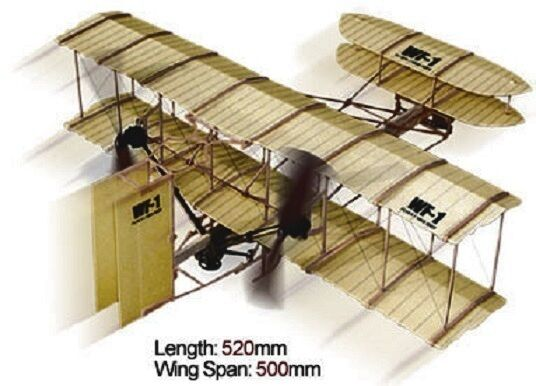 Wf 1 Wright Brothers Rubber Band Powered 2 Propeller Plane