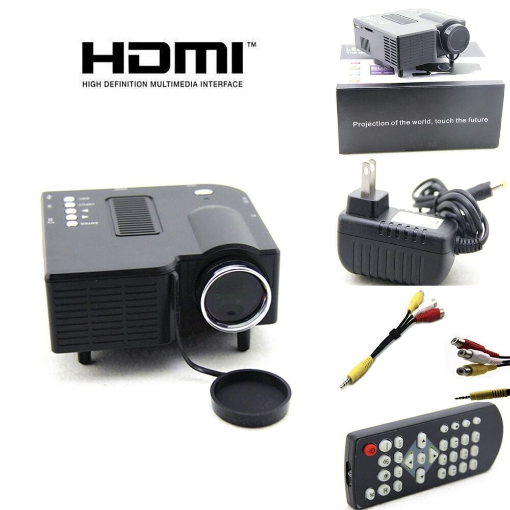 Original uc28 pro portable mini led projector home cinema for Miniature projector