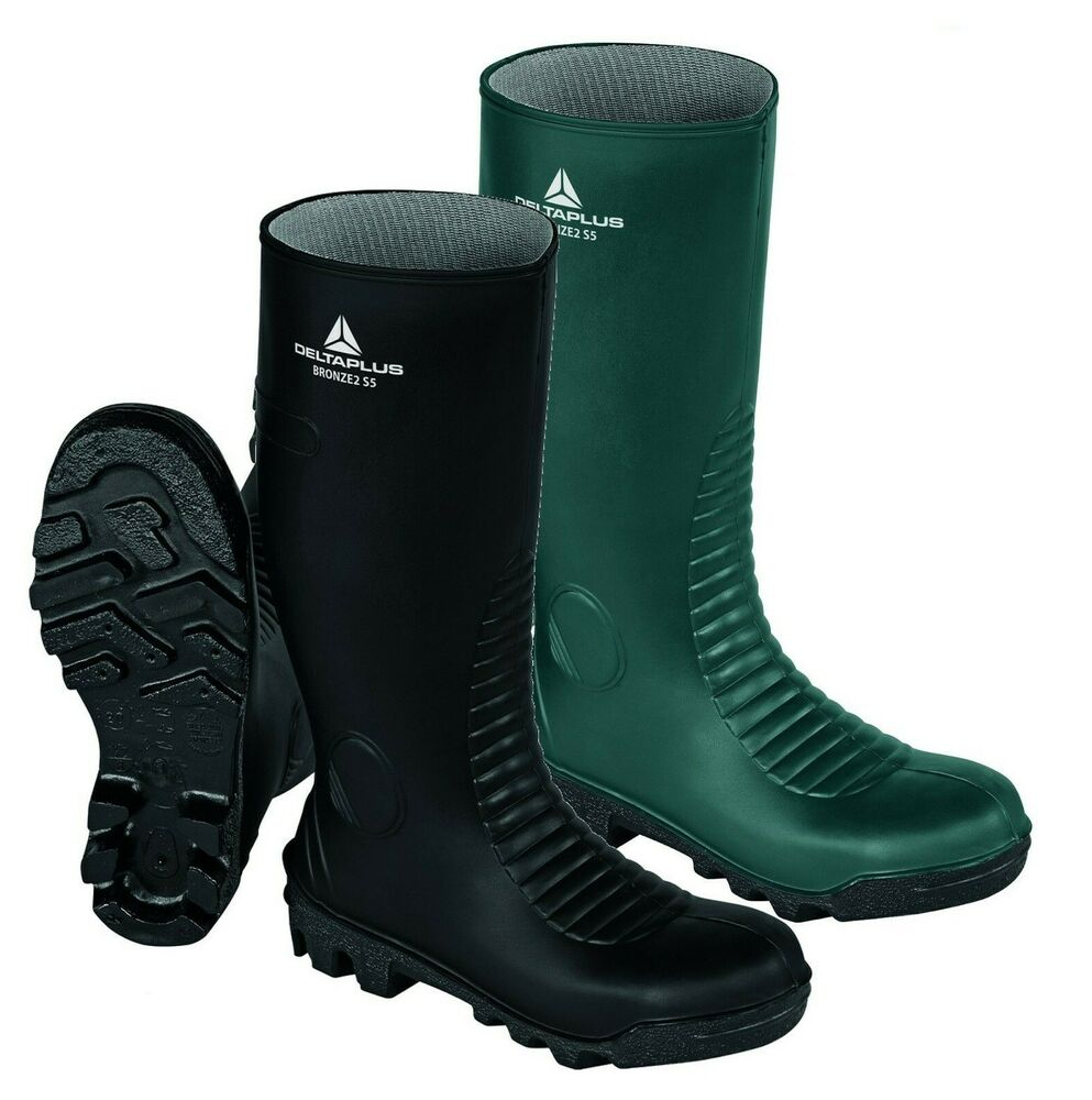 mens quality rubber dunlop safety work wellingtons