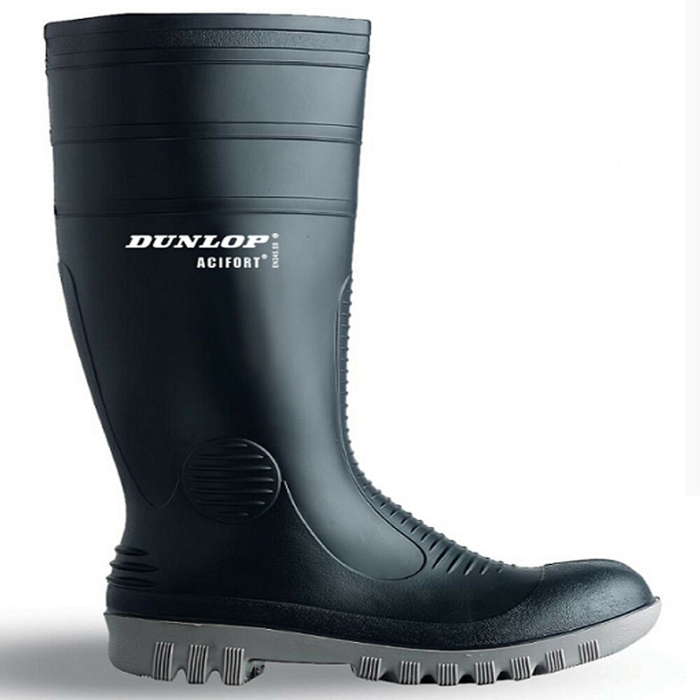 new mens quality rubber dunlop safety work wellingtons