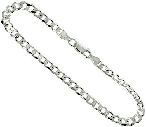 24 Quot Necklace Sterling Silver Men S Cuban Curb Chain Pure