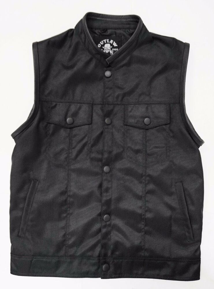 OUTLAW CYCLE PRODUCTS TEXTILE MOTORCYCLE BIKER VEST WITH ...