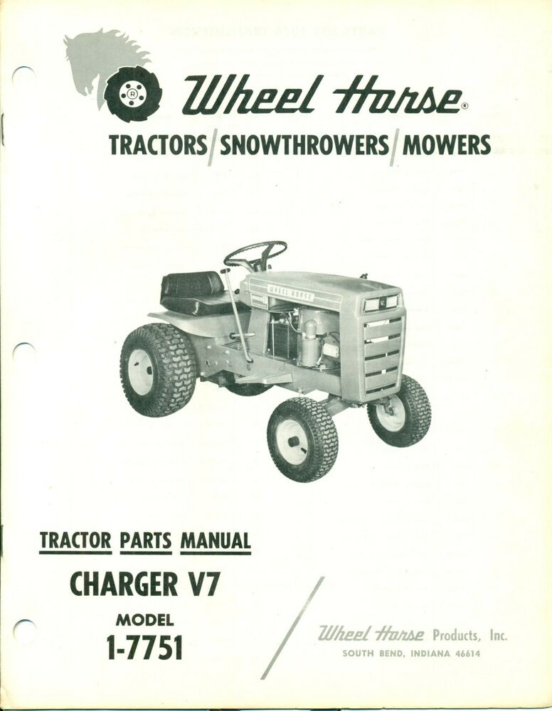 Parts Of A Tractor Wheel : Wheelhorse tractor parts manual charger v model