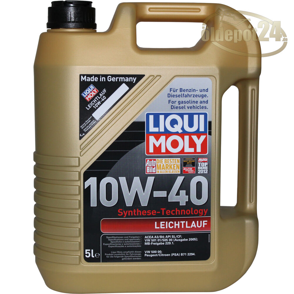 liqui moly 10w 40 leichtlauf 5 liter 10w40 ebay. Black Bedroom Furniture Sets. Home Design Ideas