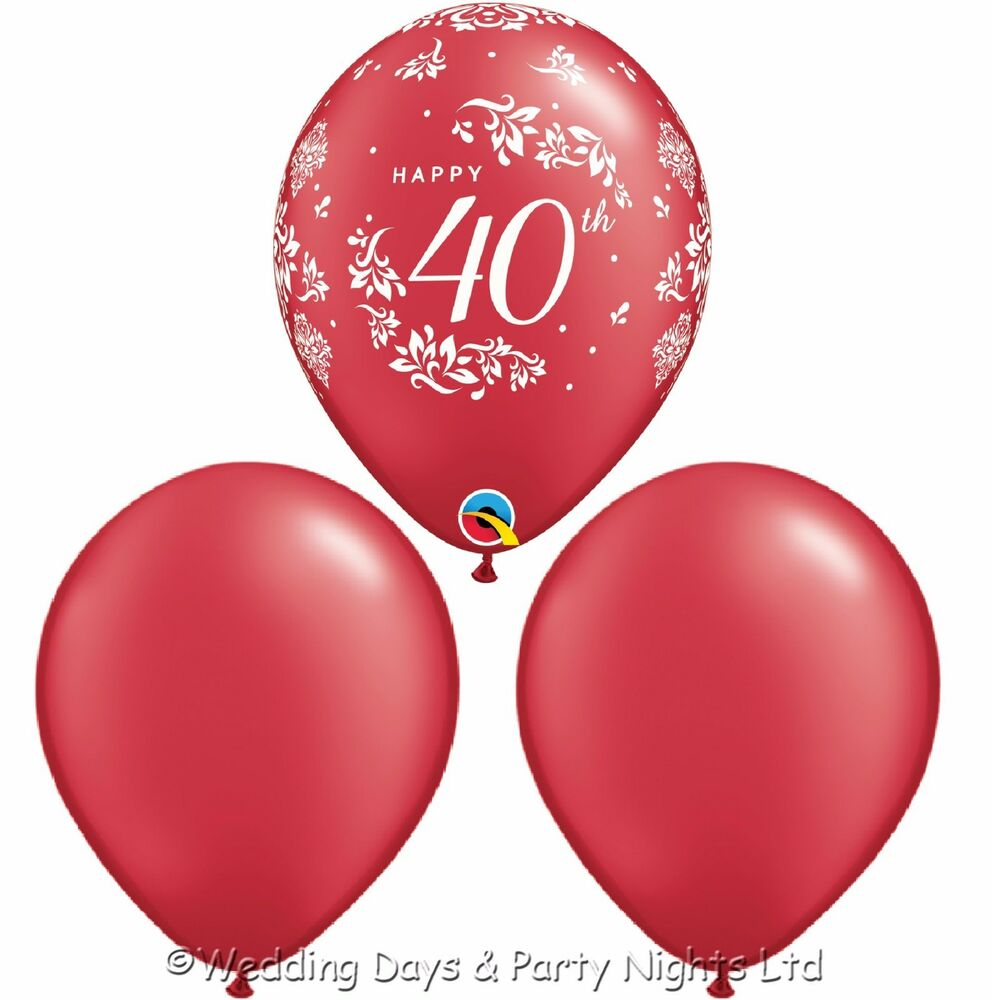 30 ruby wedding happy 40th anniversary helium air balloons for 40th anniversary party decoration ideas