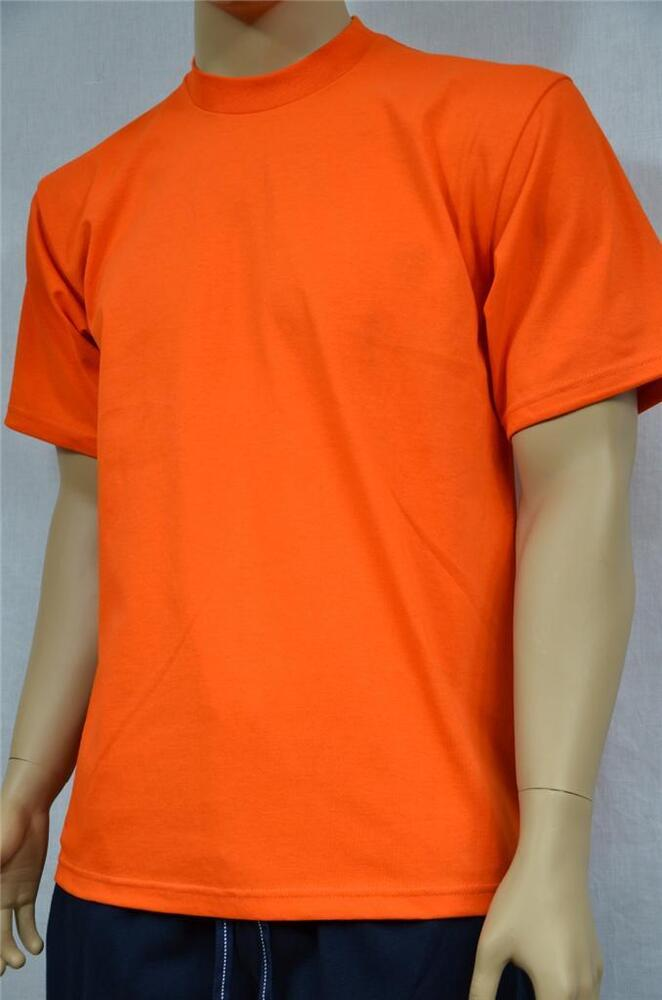2 new proclub s 5xl heavy weight t shirts orange plain tee for T shirts for clubs