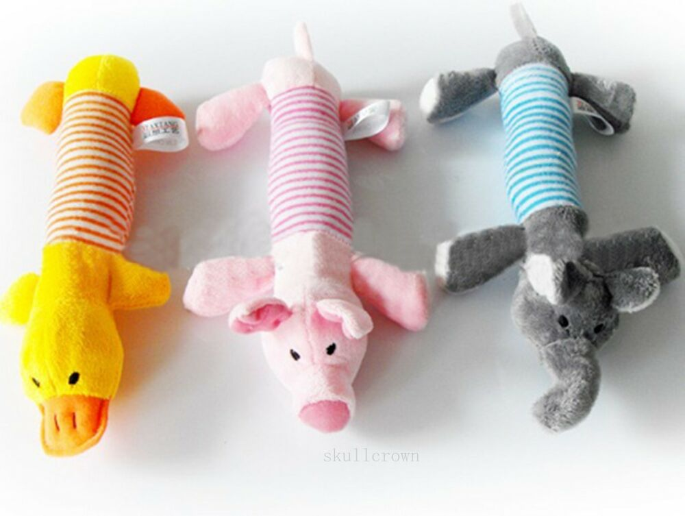 1pc Dog Toys Pet Puppy Chew Squeaker Squeaky Pig Elephant ...