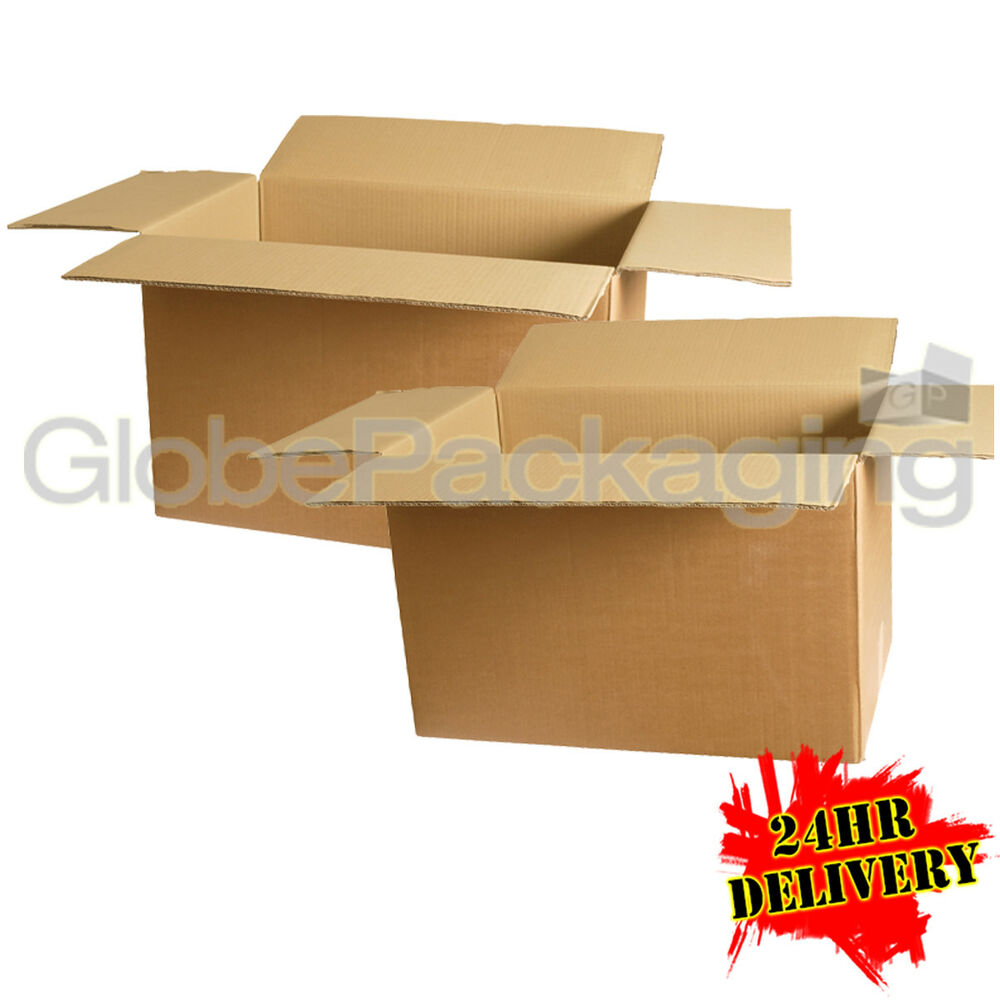 10 large removal storage cardboard boxes 22x14x14 for. Black Bedroom Furniture Sets. Home Design Ideas