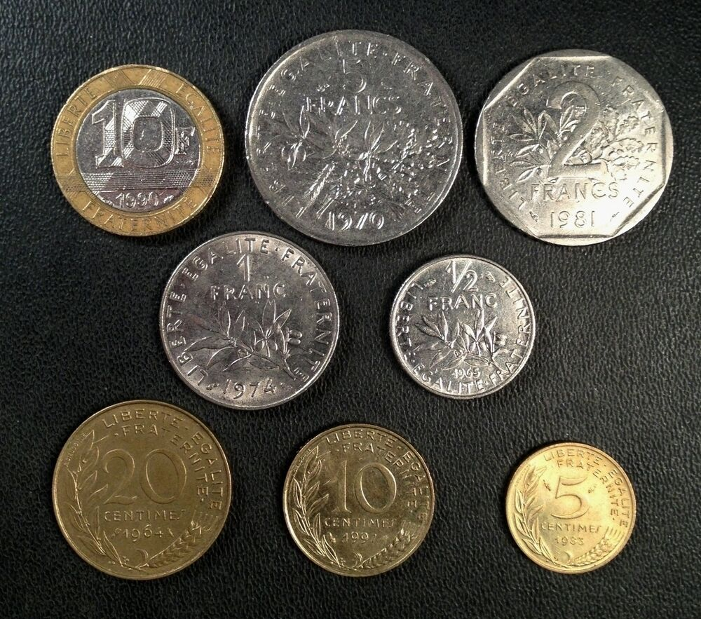 France Coin Lot Full Set Of Pre Euro French Coins Free