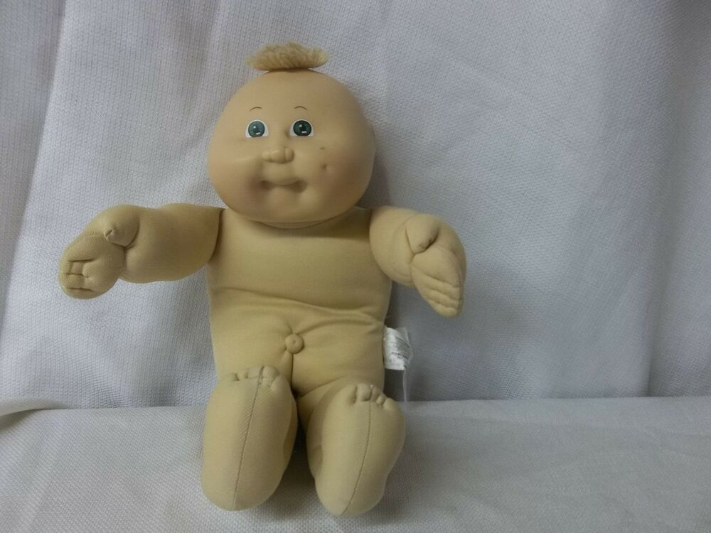 Vintage Cabbage Patch Kids Doll Preemie Blonde Hair Green