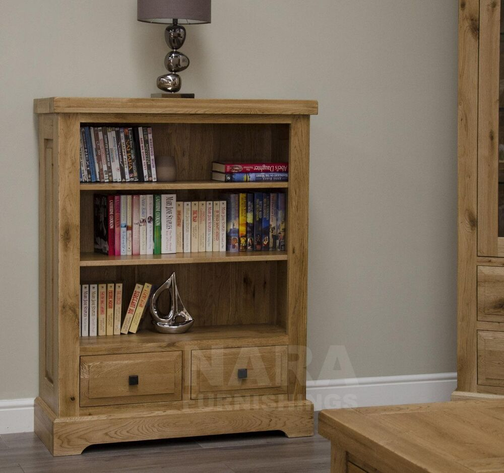 grandeur solid oak furniture small living room office bookcase ebay. Black Bedroom Furniture Sets. Home Design Ideas