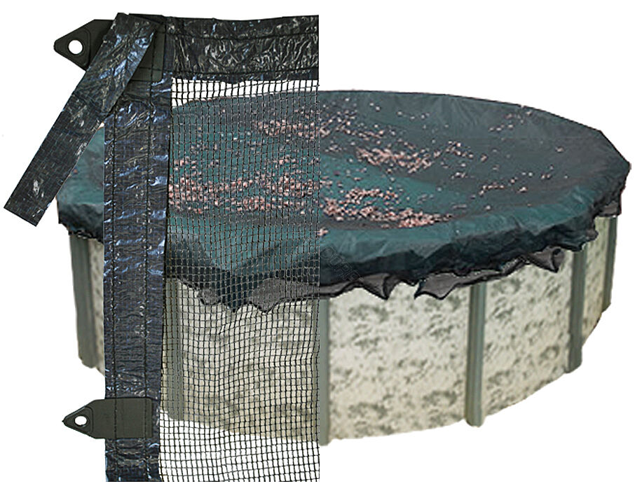 New Leaf Guard Net For 18 39 Round Winter Above Ground Pool Cover 1 Yr Warranty Ebay