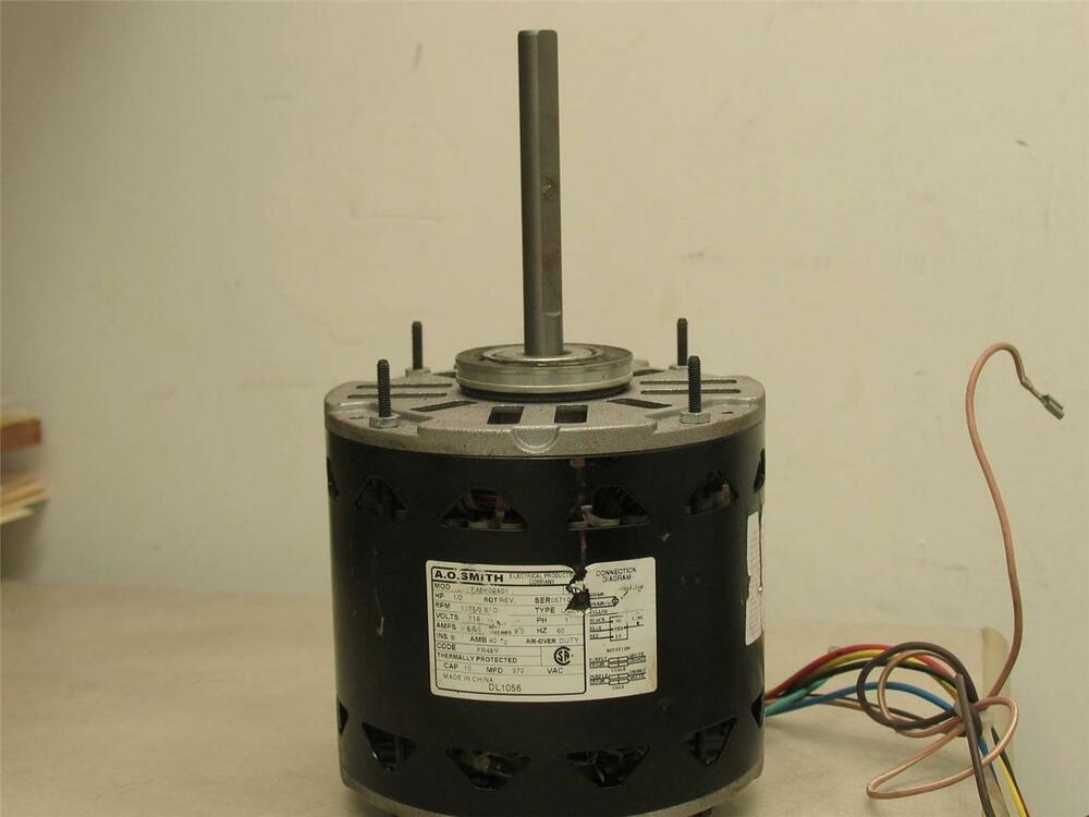 a o smith f48h02a01 furnace blower motor 1 2 hp 1075 rpm