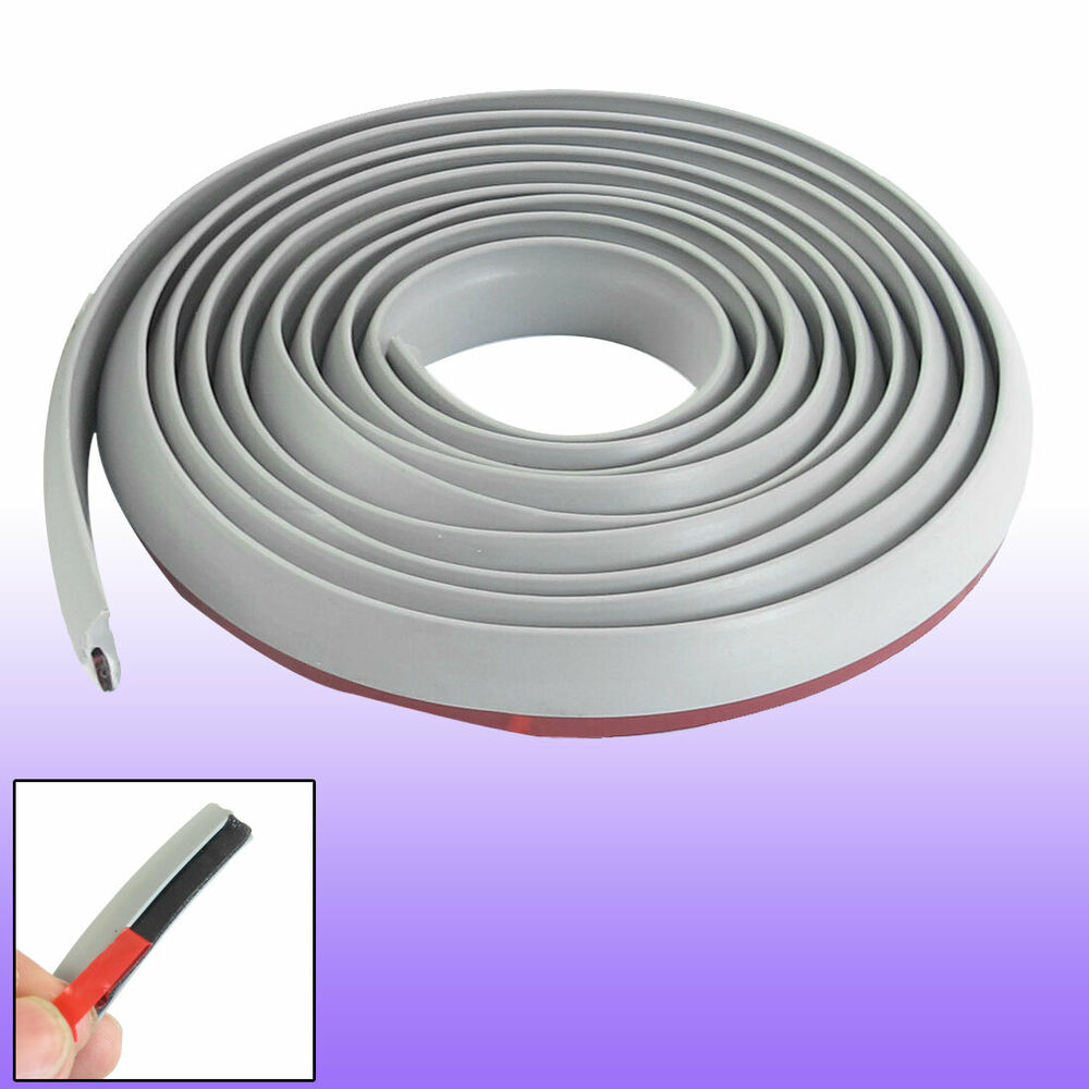 auto door edge guard trim molding protector strip gray 11mm width 5 4ft ebay. Black Bedroom Furniture Sets. Home Design Ideas