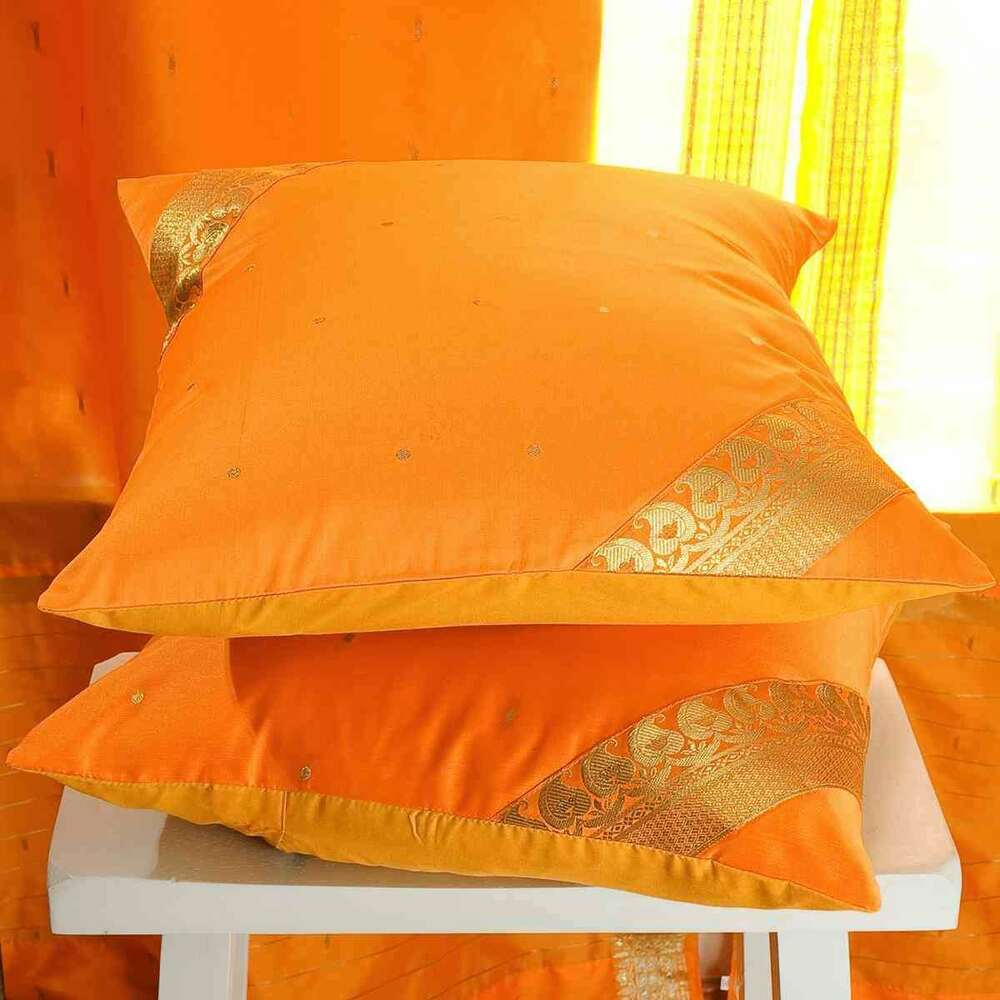 Ultrasoft Euro Square Decorative Sham Pillow White : Pumpkin- handcrafted Cushion Cover, Throw Pillow case Euro Sham-6 Sizes eBay
