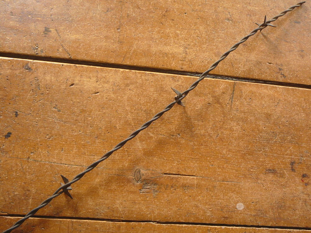 Scutt s mw plate sheet metal barb antique barbed