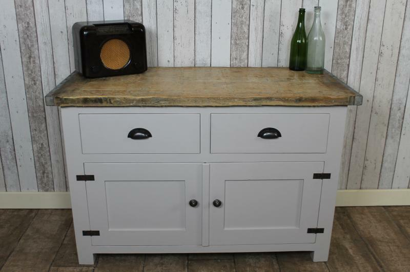 industrial cupboard base sideboard cabinet rustic style ebay. Black Bedroom Furniture Sets. Home Design Ideas