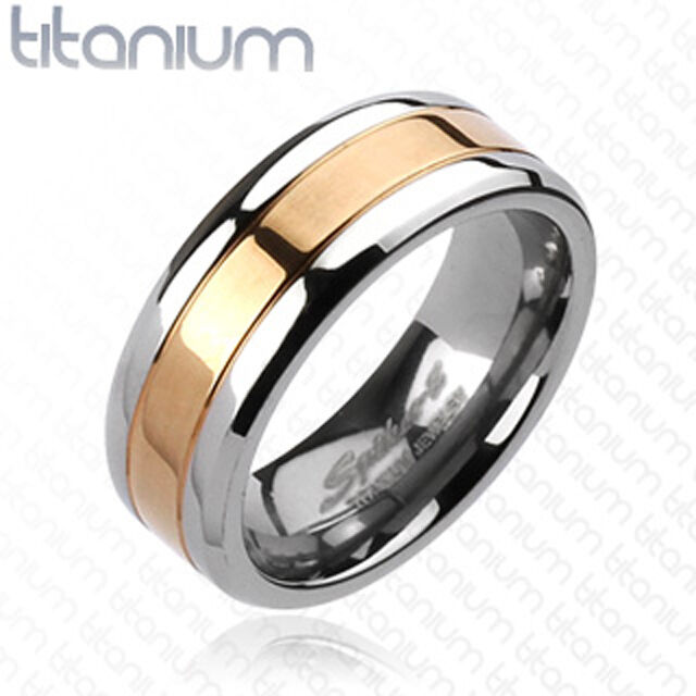 mens wedding rings gold titanium gold ip center comfort fit mens ring wedding 5816