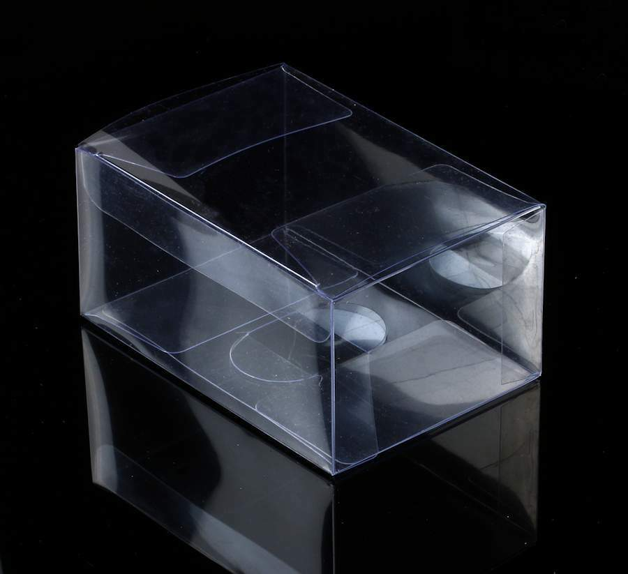 10 x transparent box klarsicht falt schachtel verpackung dose plastik faltbar ebay. Black Bedroom Furniture Sets. Home Design Ideas