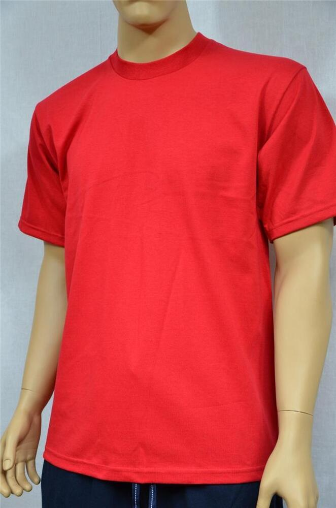 1 new proclub s 5xlt heavy weight t shirt red plain tee for Simply for sports brand t shirts
