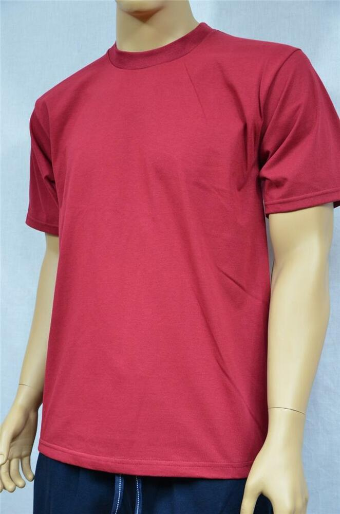 1 new proclub s 5xl heavy weight t shirt burgundy plain for T shirts for clubs