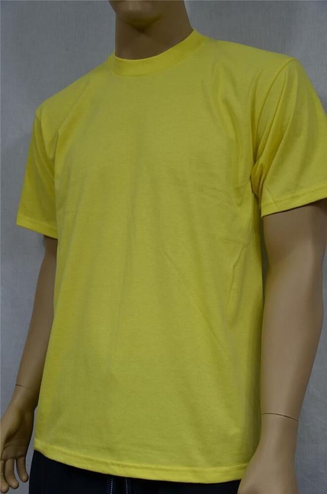 1 new proclub s 5xl heavy weight t shirt yellow plain tee for T shirts for clubs