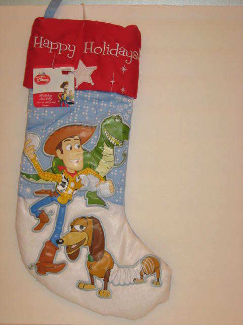 Toy Story Holidays : Toy story holiday christmas stocking woody slinky dog rex
