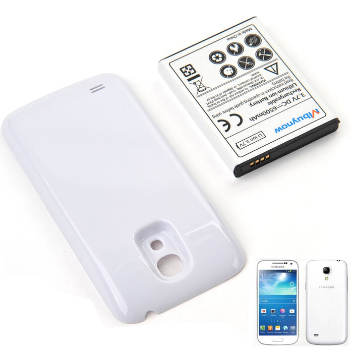 samsung galaxy s4 mini extended battery 6500mah mbunow battery with back case ebay. Black Bedroom Furniture Sets. Home Design Ideas