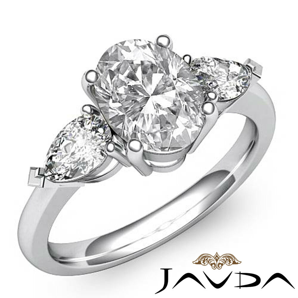 oval wedding rings three excellent oval cut engagement ring 6345