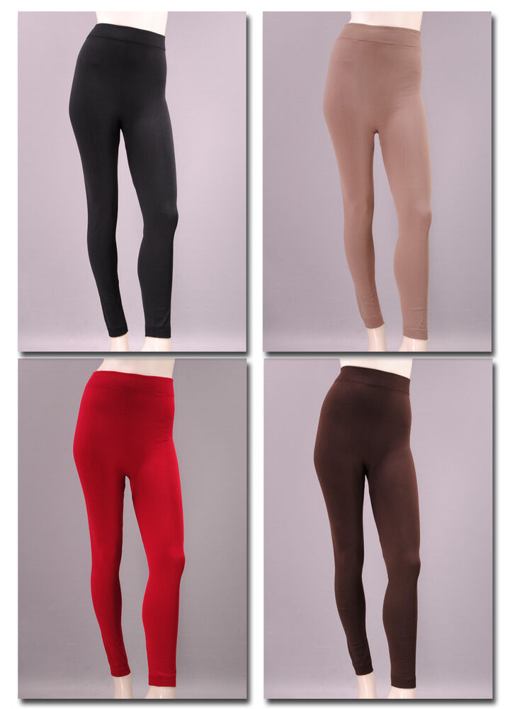 xxl thermo leggings bergr e ohne naht innen geraut hose leggins legins 388 ebay. Black Bedroom Furniture Sets. Home Design Ideas