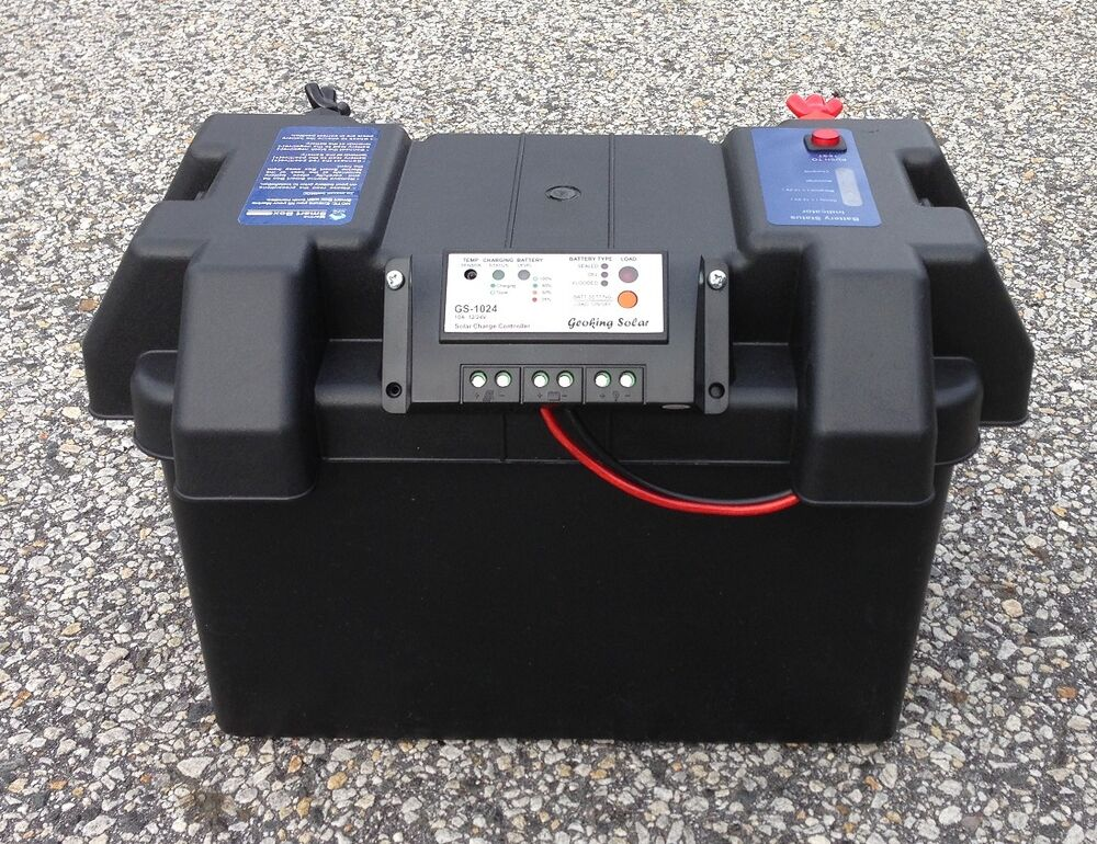 Smart Battery Box With Solar Charge Controller Ebay
