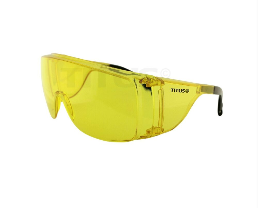 Amber Safety Glasses Goggles Shooting Range Eye Protection