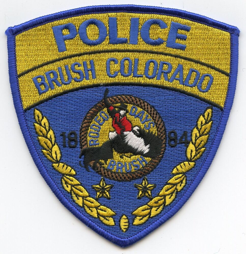 BRUSH COLORADO CO Rodeo Days POLICE PATCH