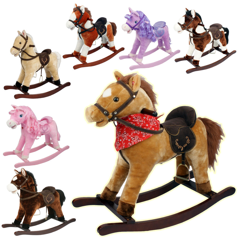 Horse Toys For Boys : Kids toy play rocking horse pony moving mouth sounds
