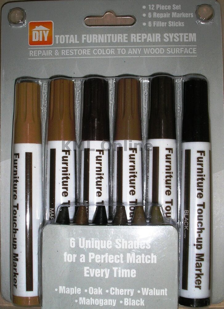 ... Laminate Wood Flooring Scratch Chip Repair Pen Wax Restorer Kit | eBay