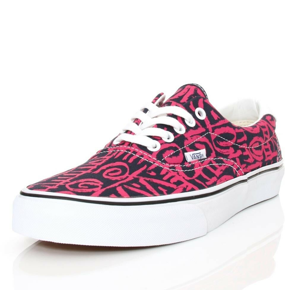 b5cec11034 Details about AUTHENTIC VANS VAN DOREN ERA 59 TRIBAL BLUE PINK MENS 9 SHOES  27 CM EUR 42 new