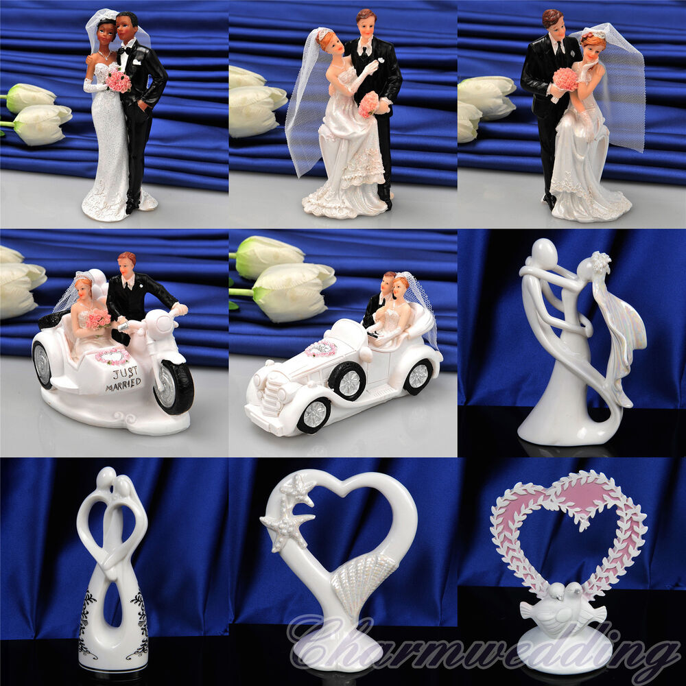 Wedding Cake Decorating Figurines : New Bride & Groom Couple Wedding Cake Toppers Figurines ...