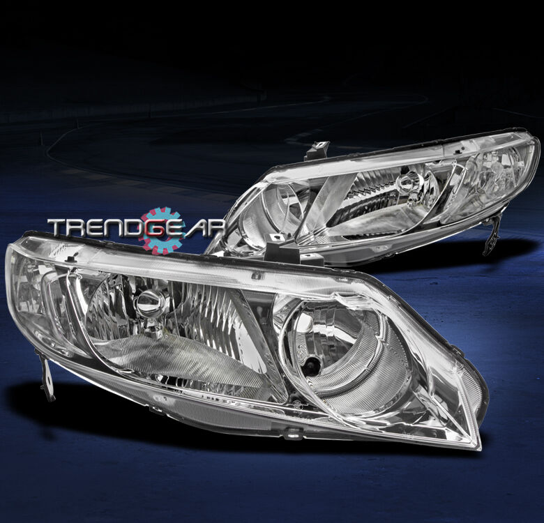 2006 2011 Honda Civic Sedan 4dr Crystal Jdm Chrome Headlight 2007 2008 2009 2010 Ebay