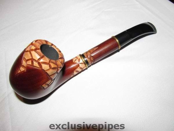 Carved Stone Pipe : Hand carved tobacco smoking pipe quot stone age ebay