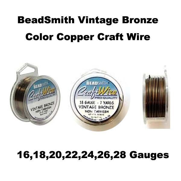beadsmith vintage bronze non tarnish craft wire 16 to 26