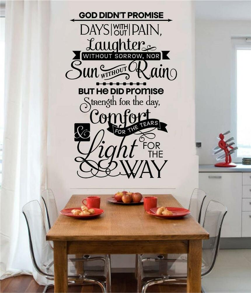 god promise days christian religious vinyl wall decal words art sticker decor ebay. Black Bedroom Furniture Sets. Home Design Ideas